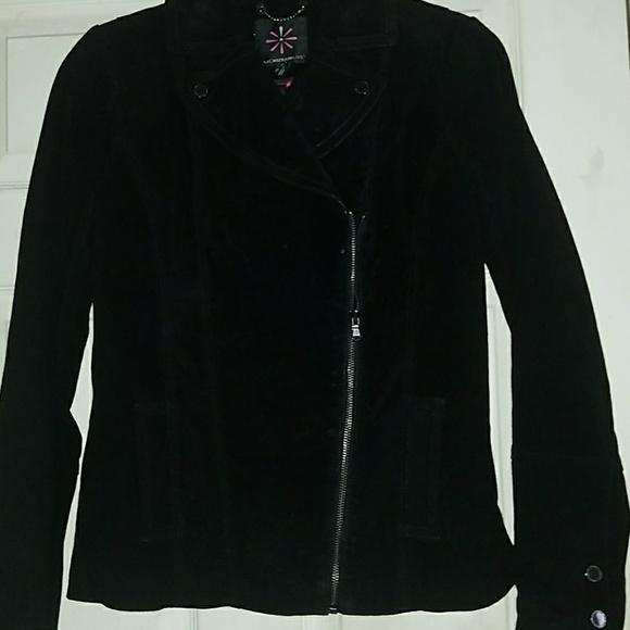 Isaac Mizrahi Jackets & Blazers - Black Suede Jacket